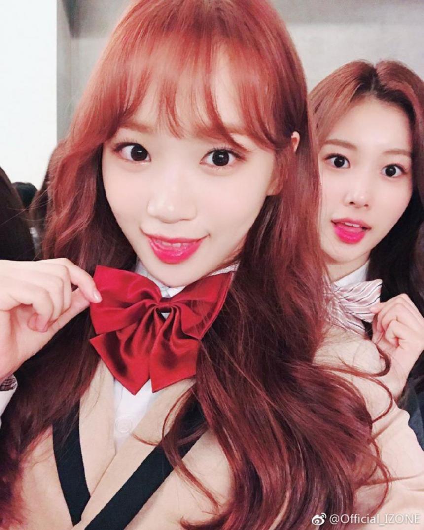 아이즈원 김채원-강혜원 / 아이즈원 웨이보